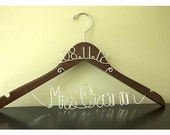 WINTER SALE 15% Off -- Personalized Bridal Hanger WITH Wedding Date