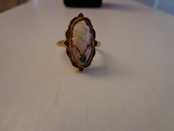 Deco Cameo Habille Ring Gold