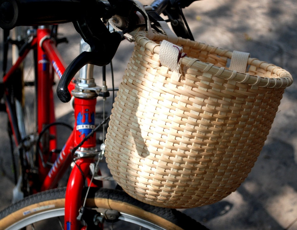 Handmade Bicycle Baskets : Handmade bicycle basket for an autumn picnic by claireswanson
