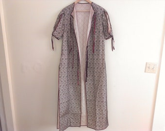 70s vintage seventies lace robe large women