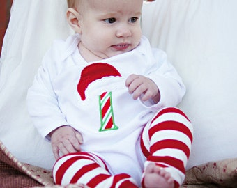 Personalized Baby's First Christmas Onesie