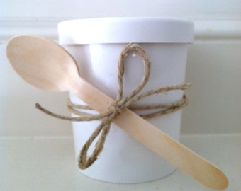 Ice Cream Cups, 16oz Ice Cream Cups, Hot/Cold Cups, Ice Cream Paper Party Favor Cups with Lids (12) Cups