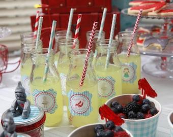 Glass Milk Bottle, 12 Glass Bottles, Vintage Bottles, Party Glasses, Wedding Drink Bottles or Glasses- Mini Milk Jug