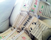 Vintage Sheet Music Nursery Bunting, Children's Songs (Animals)