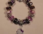Deep Purple Hello Kitty Charm Bracelet
