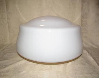 Vintage White Light Fixture Schoolhouse Globe