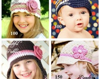 Instant Download Crochet Hat Pattern - Hat Crochet Pattern Beanie Visor Earflap Newsboy  4 For 16.00 Crochet Patterns Sale Pack Combo Deal