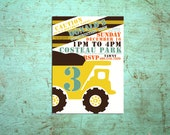 Printable Construction Birthday Party Invite