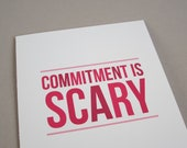 "Funny Card, Card for Lover, Just Because Card - ""Commitment"""