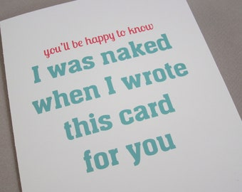 """Funny Card for Friend, Fun Card - """"Happy to Know"""""""