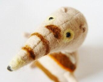 Ant-eater stuffed plush toy upcycled.