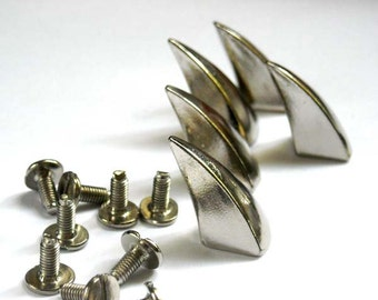 Silver Cone Horn Spikes  - 10 Sets - 20-S-4