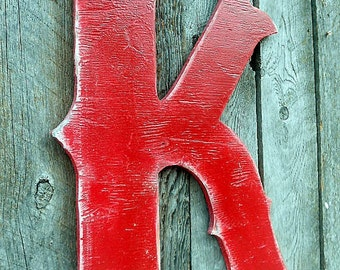"24"" X-Large Western Style Letter ""K"" Initial Rustic Wooden A B C D E F G H I  J K L M N O P Q R S T U V W X Y Z Family Gift"