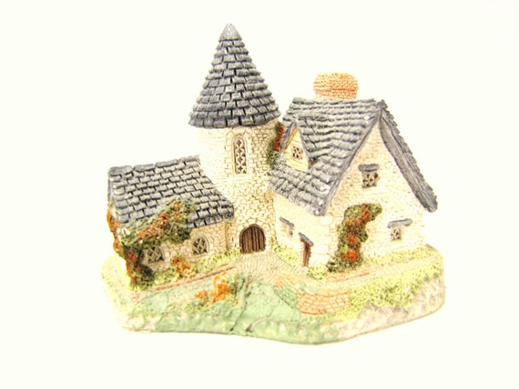 Vintage David Winter Cottage. Vicarage. 1985. Castle. Collectible. Figurine.
