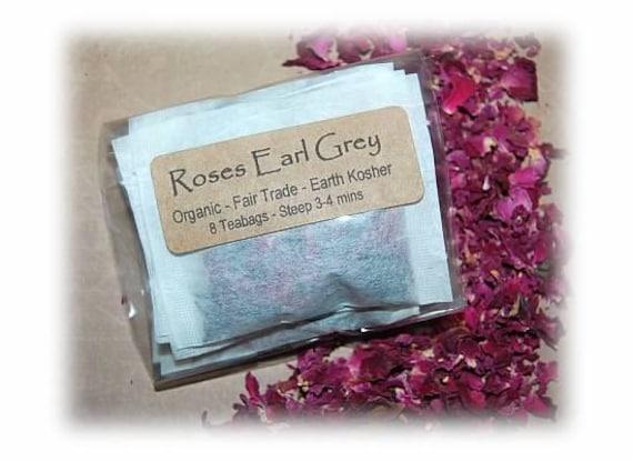 Roses Earl Grey Organic Tea Rose Petals Black Tea