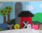 Barnyard Felt Board with Finger Puppets Set, Educational Teaching Aid
