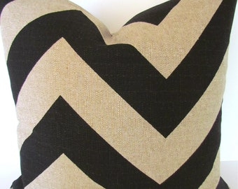 TAN CHEVRON PILLOW Covers Black Decorative Pillow Covers Black Throw pillows 16 18 20x20 .All Sizes. Tan Pillow Home and living Home Decor