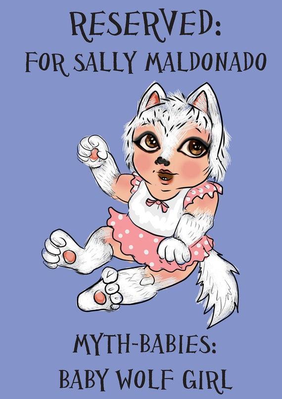 RESERVED: Baby Wolf Girl for Sally Maldonado