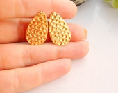 3 For 2 sale Gold drop earrings, Drop shaped earrings,Sexy Jewelry, post earrings, Urban chic