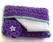 Crocheted Pocket Size Tissue Cover - Free Shipping