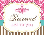 Reserved order for Ashley