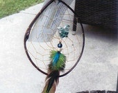 Tree Agate Carved Butterfly Dream Catcher