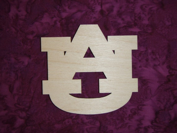 u a  letter unfinished wood cut out