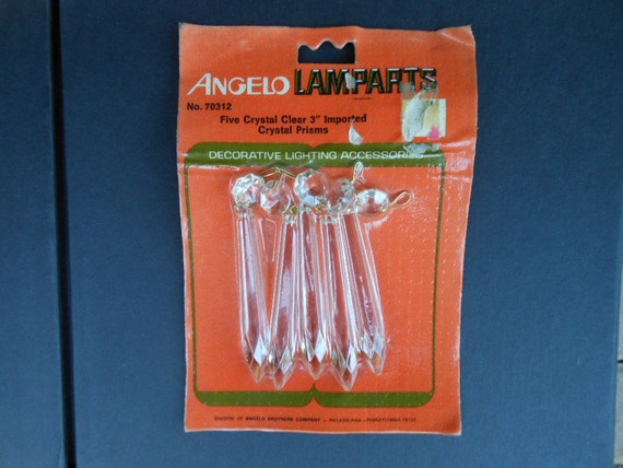 Imported Crystal Prisms Angelo Lamparts Five 3 Inch Long
