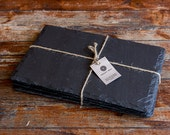Large Welsh Slate placemats set of 4