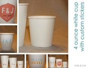 4 oz - 20 Paper Cups with Custom Label