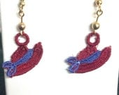 Red Hat Earrings - Lace