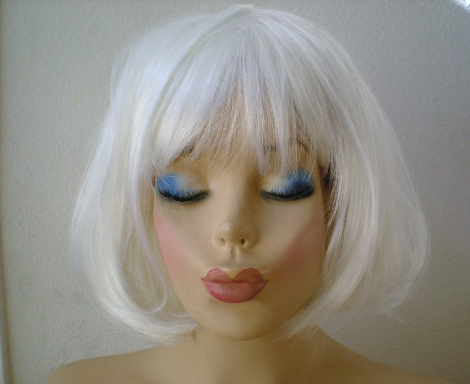 White Wig Bob Hair Wig Cosplay Wig Short White Wig