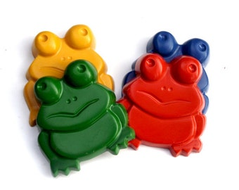 JUMBO Frog Crayons - Set of 4