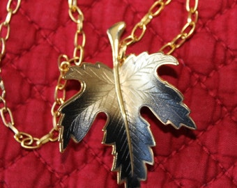 Autumn Leaf 5  Gorgeous Gold and Black Maple Leaf, Autumn Leaves Start to Fall, Birthday gift, Christmas gift, Mother's Day gift, Graduation