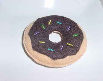 Felt Food - Donut with Chocolate Icing & Spinkles Felt Play Food