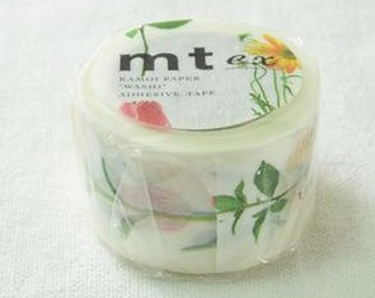 on sales / mt ex Masking Tape /  collage scrapbooking  /  Flowers / MTEX1P26