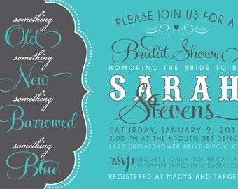 BRIDAL SHOWER INVITATION- something old