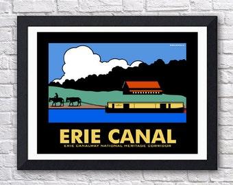 Erie Canal Digital Print - 11x14