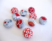 Mixed Button Set - Grey and Red Ideas
