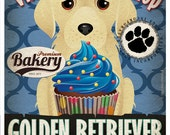 Golden Retriever Cupcake Company Original Art Print - Custom Dog Breed Print -11x14- Customize with Your Dog's Name - Dogs Incorporated