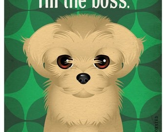 Pekingese Funny Dogs Original Art Print - Humorous Dog Breed Art -11x14- Funny Dog Poster - Dogs Incorporated