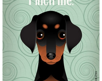 Doberman Funny Dogs Original Art Print - Humorous Dog Breed Art -11x14- Funny Dog Poster - Dogs Incorporated