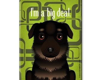 """Funny German Shepherd Magnet - Funny Dog Breeds for Kitchen - Refrigerator Magnet for Dog Lovers 2.5""""x 3.5"""""""
