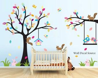 Nursery Tree Wall Decal, Nursery Wall Decals, Owl Wall Decal, Large Tree Wall Decal, Wall Decals for Nursery, Nursery Decals, Nursery Art