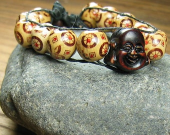 Two Wooden Buddha Beads