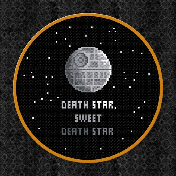 Death Star, Sweet Death Star - Star Wars Cross Stitch PDF Pattern Download