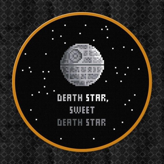 Death Star, Sweet Death Star - Star Wars Cross Stitch PDF Pattern Download