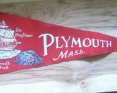 Plymouth Mass. Penant- Vintage