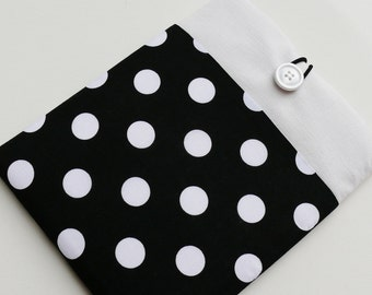 iPad Mini Case Cover Sleeve for iPad Mini 2, iPad Mini 3 Pouch Purse Padded with Pocket - SUPERIOR Shock Absorbent Padding - POLKA DOT