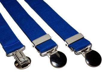Suspenders - Royal Blue Adjustable Suspenders